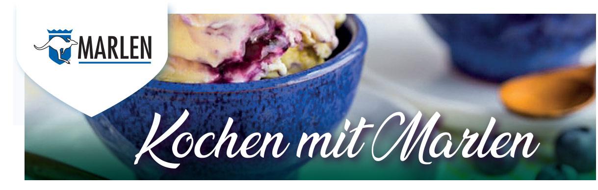 Bananen-Heidelbeer-Eis